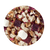 8T21214 Fruit tea blend, flavored Cotton Candy/Raspberry: pineapple cubes (pineapple, sugar), apple pieces, lilac dragonfruit cubes, marshmallows (glucose-fructose syrup, sugar, water, gelatine, corn starch, natural flavouring), natural flavoring, freeze-dried raspberry pieces.  Pink in the cup