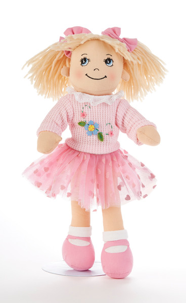 """14"""" Apple Dumplin Pink Tutu Doll: She's all dressed up in her prettiest play dress of pastel Pink Tutu skirt with matching sweater, and pink shoes. A bit of sunshine sure to make any little girl happy, and best of all she's so ready to come to tea!  Includes:  1- 14"""" Apple Dumplin Doll"""