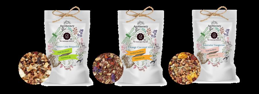 Essential Oil Teas, Healthy Teas, Loose Leaf Teas, Cornucopia Teas, New wave teas, Spritual Teas, For good health