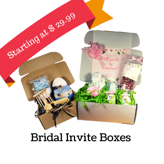 Bridal gifts for attendees, invite boxes, bridal party favors, Wedding favors