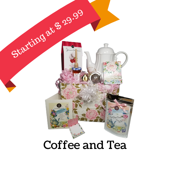Specialty Tea and Porcelain gift sets, Gourmet coffee & Tea Gift baskets, Tea and accessories gift, any occassion gifts with tea and coffee, tea lovers gifts, Teapots, teaware gift baskets, unique gifts for her, high quality teas and accessories