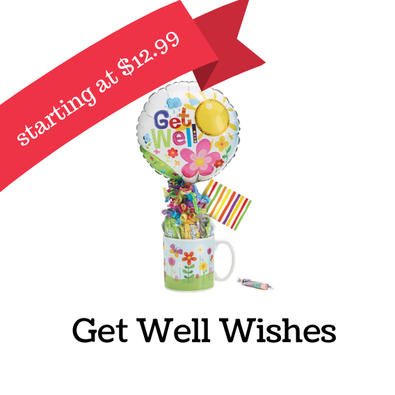 Get well gifts, get well mugs, get well gift baskets,