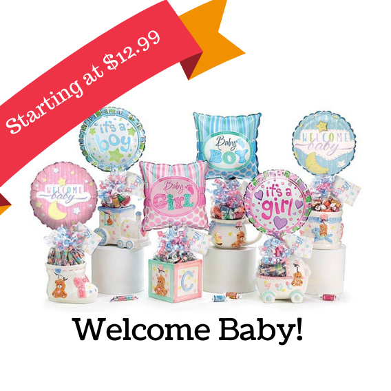 New baby gift baskets, Best New Baby gifts, Delivery, Ready to purchase gift baskets