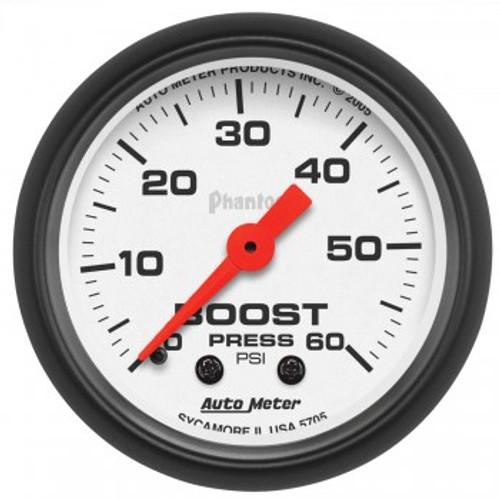 "Autometer 2-1/16"" Boost 0-60 PSI Mechanical Phantom Gauge"