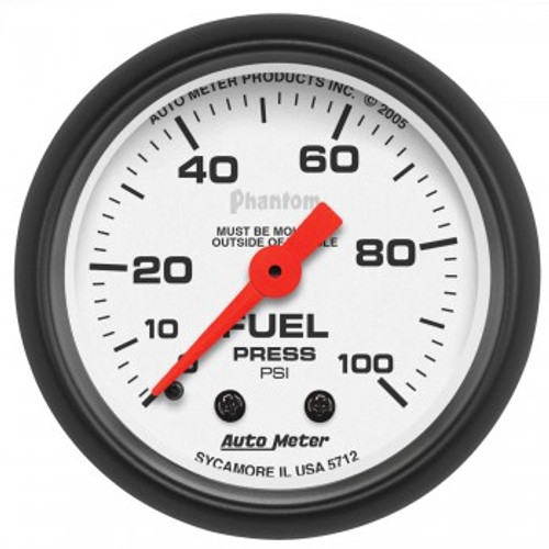 "Autometer 2-1/16"" Fuel Pressure 0-100 PSI, Mechanical Phantom Gauge"