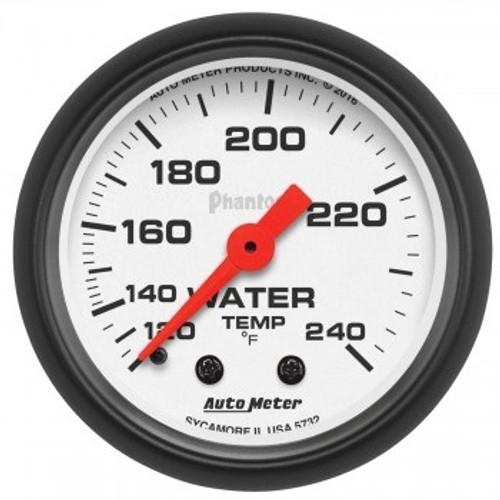 "Autometer 2-1/16"" Water Temperature 120-240 White Phantom Gauge"