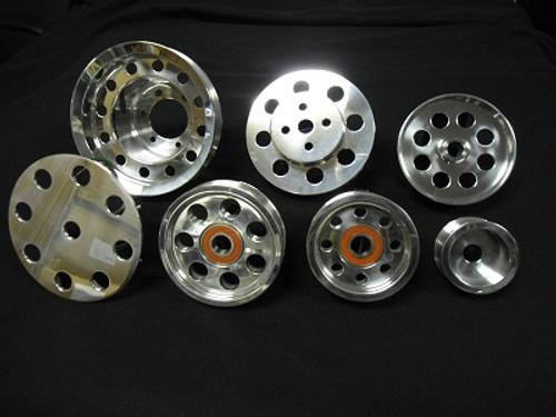 Billet Aluminum 7 piece Pulley set