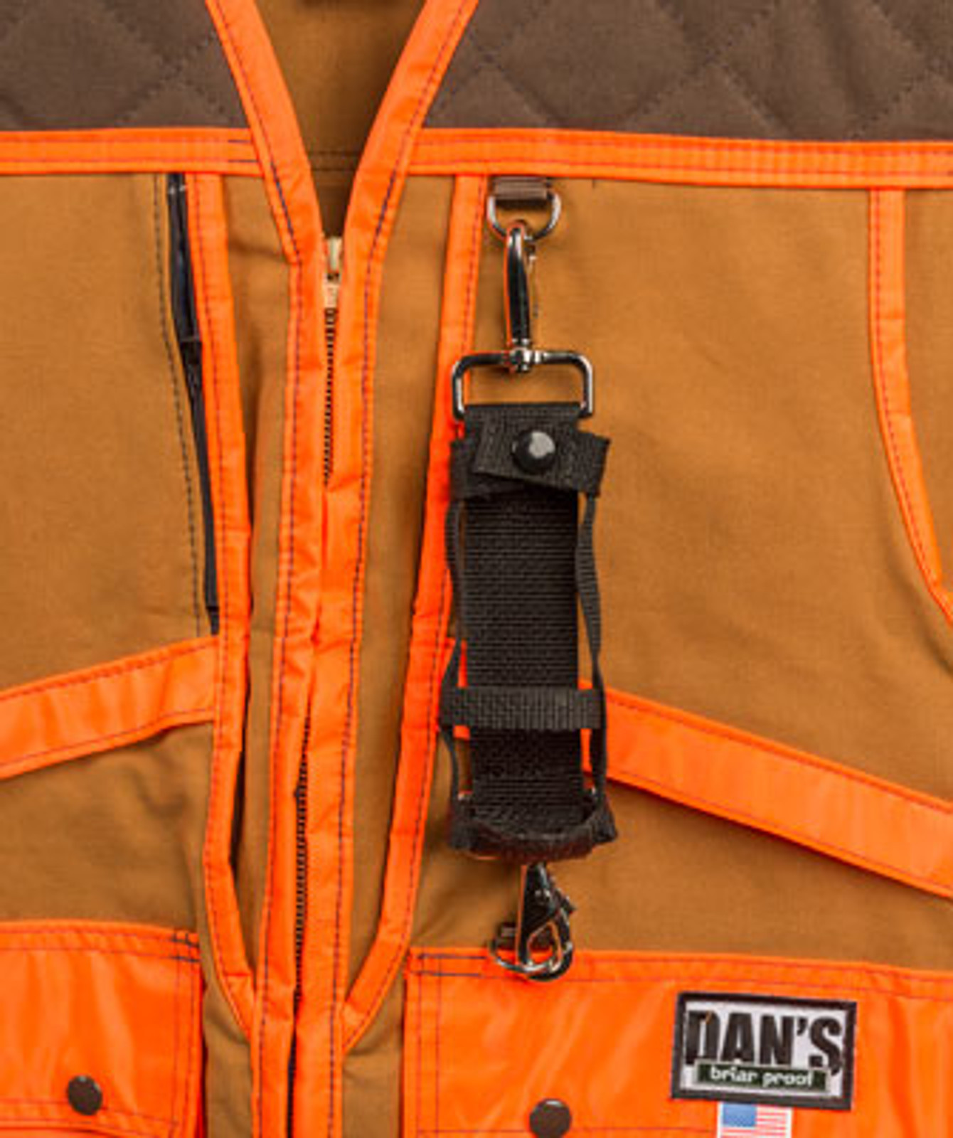 Brown and Orange Upland Game Vest by Dan's Hunting Gear | Briarproof Superstore