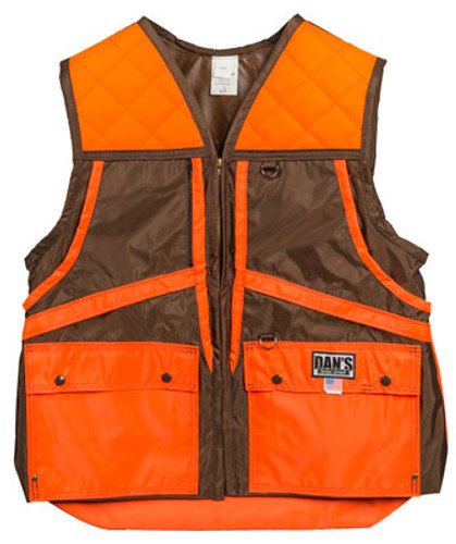 Brown and Orange Briarproof Game Vest by Dan's Hunting Gear