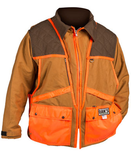 Brown and Orange Upland Game Coat by Dan's Hunting Gear | Briarproof Super Store