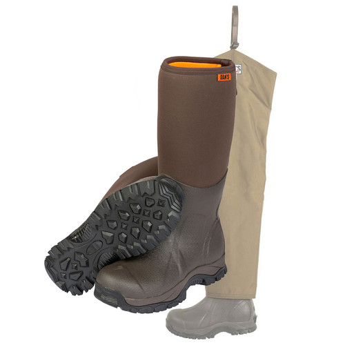 Dan's Frogger Boot with Brush Buster Briarproof Chaps by Dan's Hunting Gear