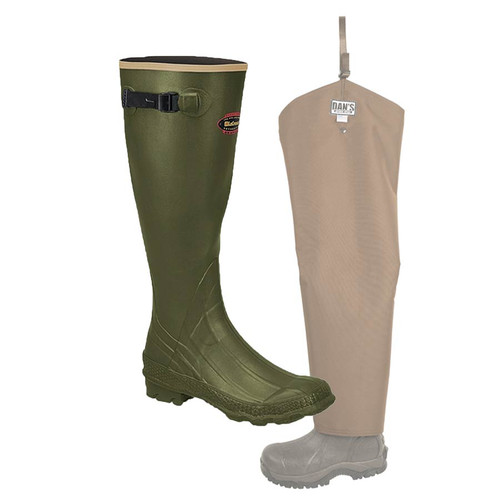 Non-Insulated Lacrosse Grange Knee Boot with Snake Protector Chaps by Dan's Hunting Gear