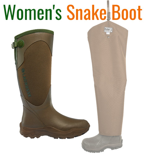 WOMENS Lacrosse Agility Snake Boot with Snake Protector Chaps by Dan's Hunting Gear®