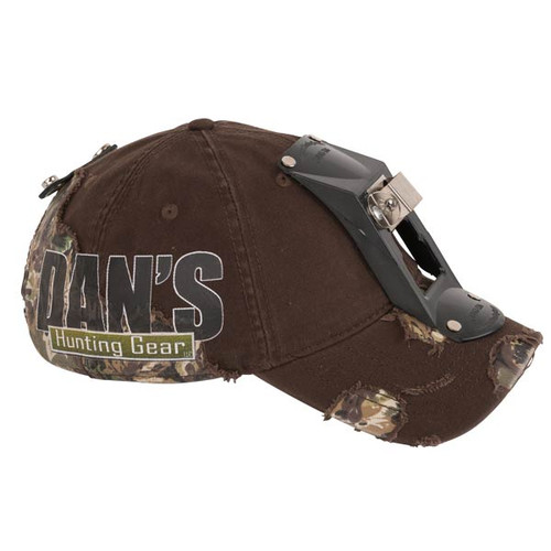Hard Shell Camo Cap with light bracket