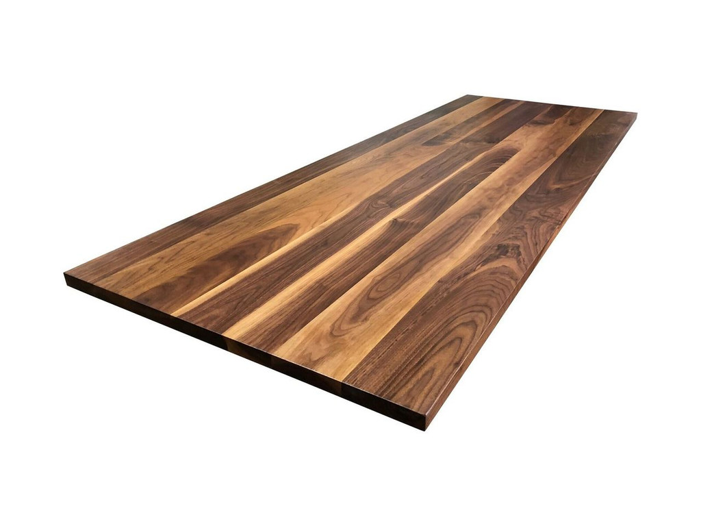Rustic Walnut Plank Top