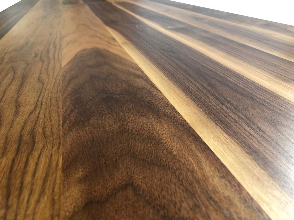 Rustic Walnut Tabletop Detail