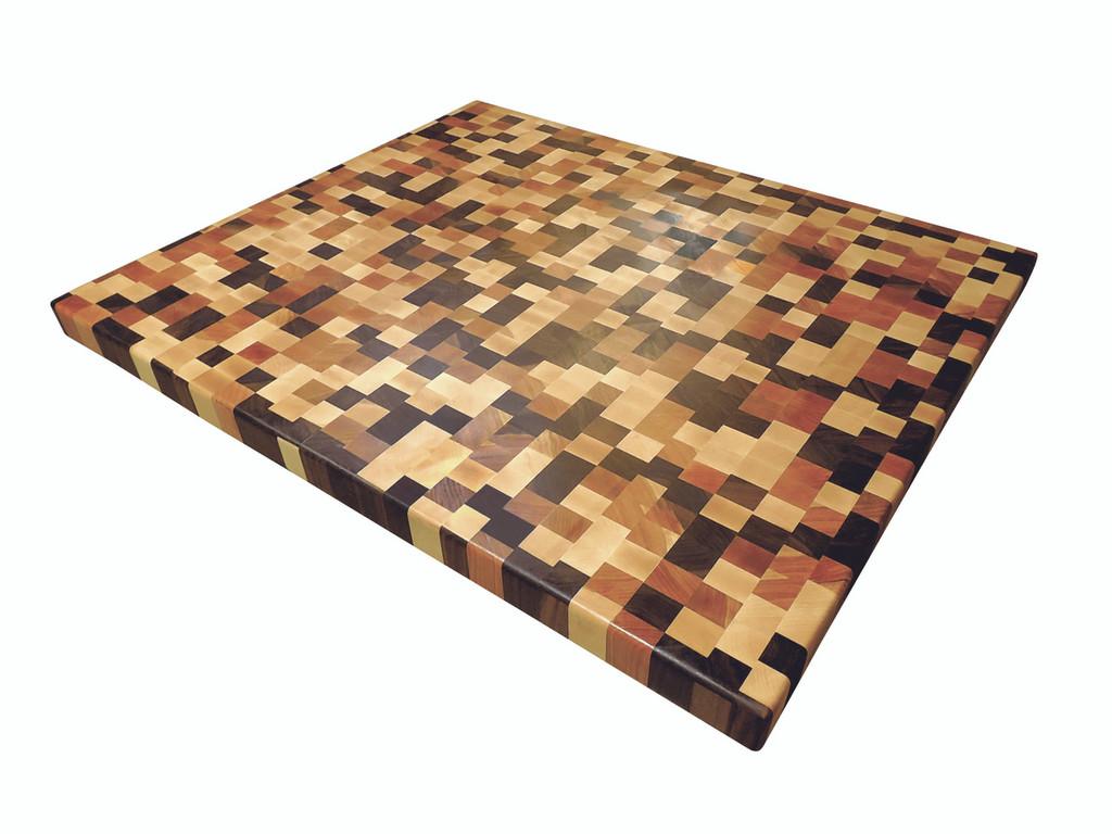 Randomized Butcher Block Countertop with Walnut, Cherry and Maple