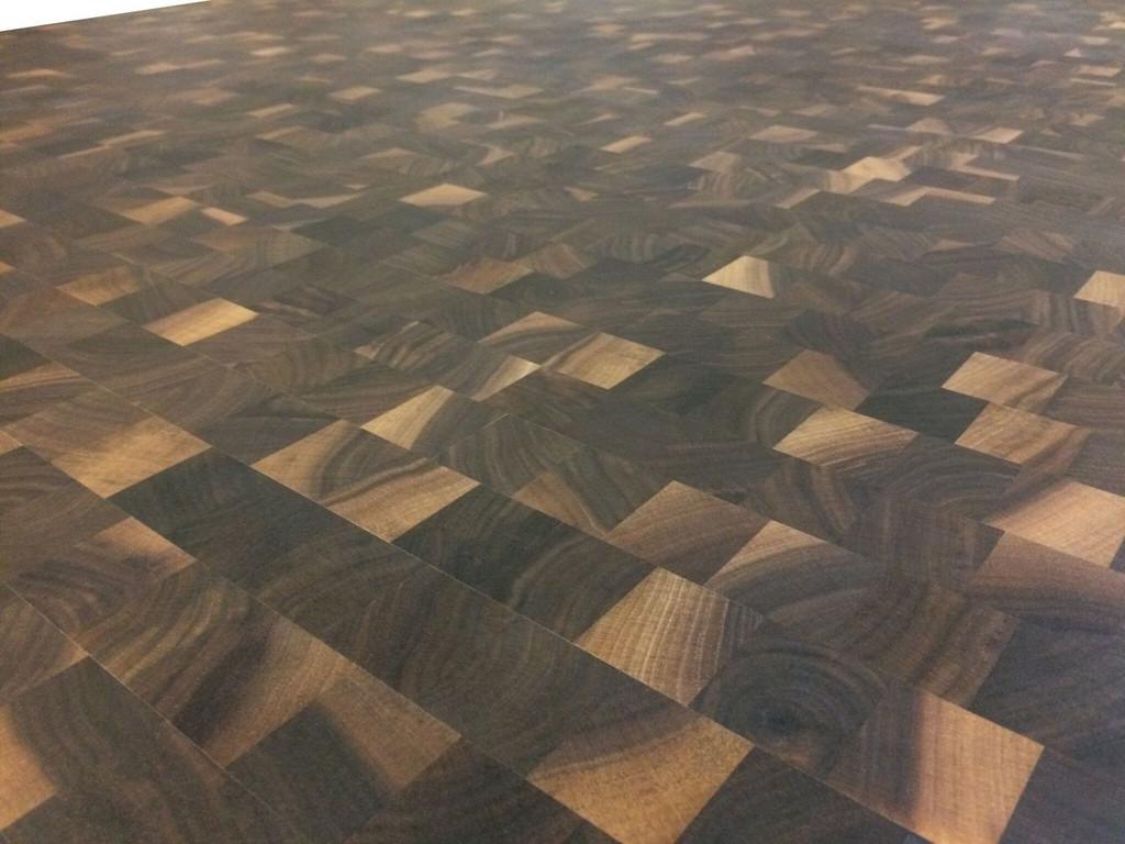Rustic Walnut Cutting Board Countertop