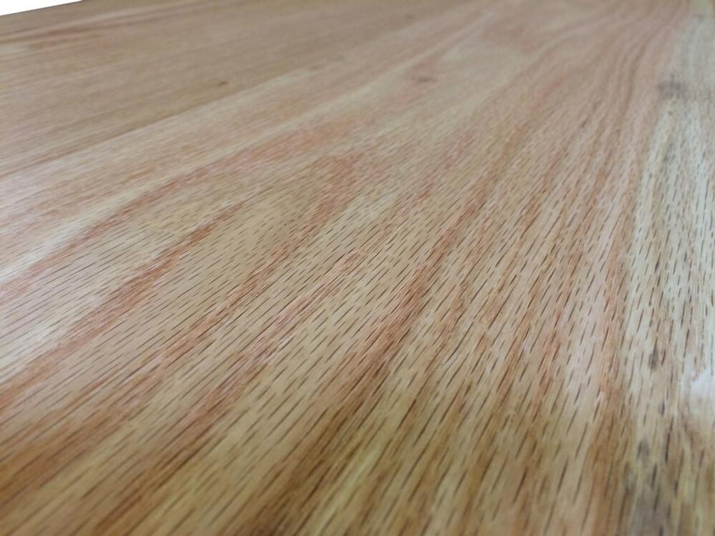 Custom Listing - Zsolt - Long L-Shaped Red Oak Wide Plank Countertop