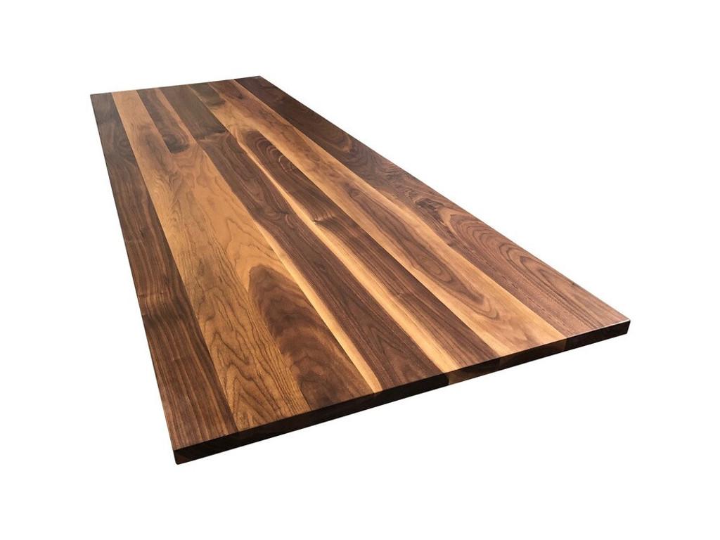 Custom Listing - Jeannette Dujmovich - Rustic Walnut Wide Plank Island Top
