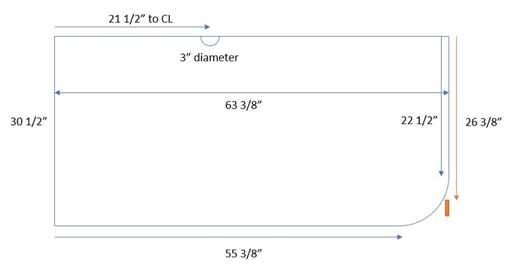 Custom Listing - Rhys Keller - Knotty Walnut Wide Plank Laundry Room Countertop