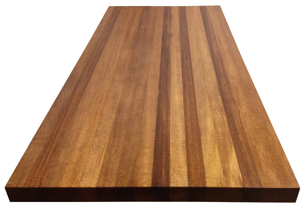 Edge Grain African Mahogany Island Top by Armani Fine Woodworking