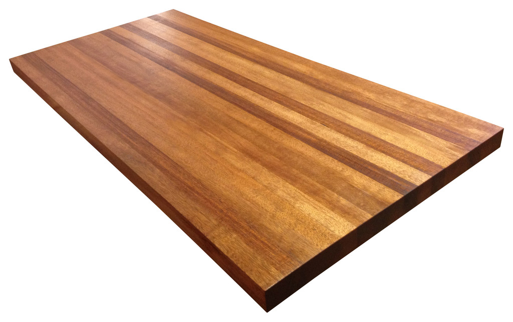 Edge Grain African Mahogany Butcher Block Countertop by Armani Fine Woodworking