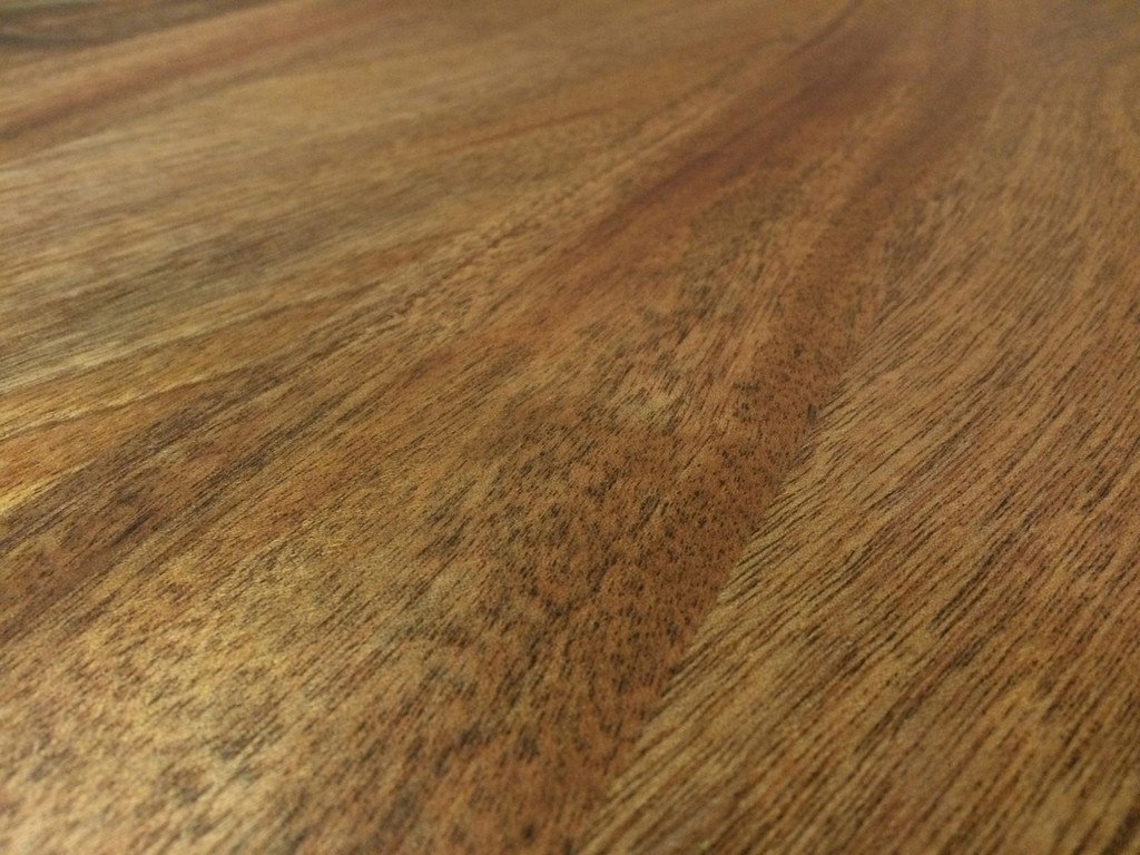 African Mahogany Plank Tabletop Close-up
