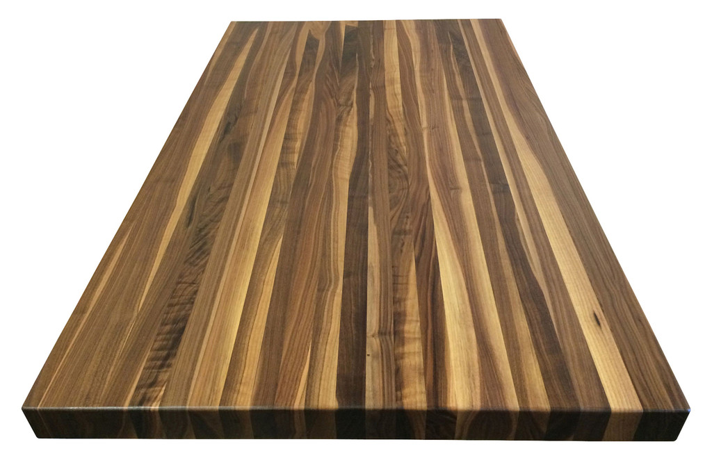 Rustic Walnut Butcher Block Countertop
