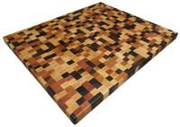 End Grain Brickwork Butcher Block Countertop with Walnut, Cherry and Maple