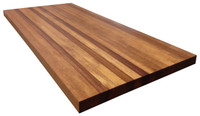 African Mahogany Butcher Block Countertop by Armani Fine Woodworking