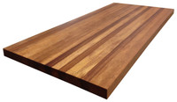 African Mahogany Tabletop by Armani Fine Woodworking