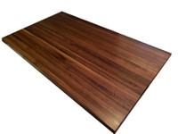 Custom Listing - Kristin Ruprecht - Wide Plank Walnut Island Counter with Post Cutout