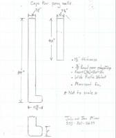 Custom Listing - John Miner - Rustic Walnut Pony Wall Caps