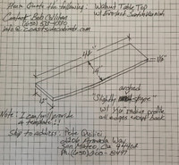 Custom Listing - Bob Collihan - Arced Walnut Wide Plank Bartop