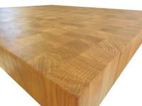 Custom Listing - Karen Kwak - Circular White Oak End Grain Tabletop