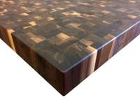Custom Listing - Priya Kalwani - Rustic Walnut End Grain Countertop