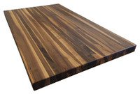 Custom Listing - Scott Ewing - Rustic Walnut Edge Grain Butcher Block Countertop (Peninsula)
