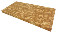 End Grain Calico Hickory Butcher Block Countertop