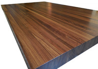 Edge Grain Walnut Island Top by Armani Fine Woodworking