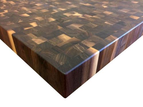 End grain Rustic Walnut Butcher Block Countertop