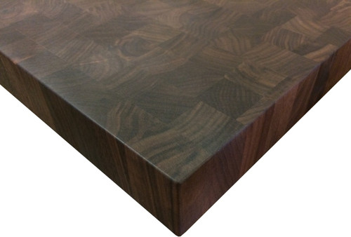 End Grain Walnut Kitchen Island Top