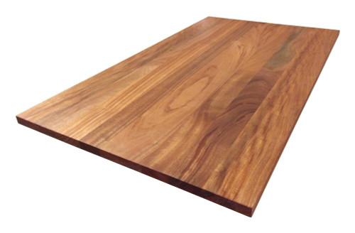 Custom Listing - Fidel Atencio - Wide Plank African Mahogany Arced Countertop