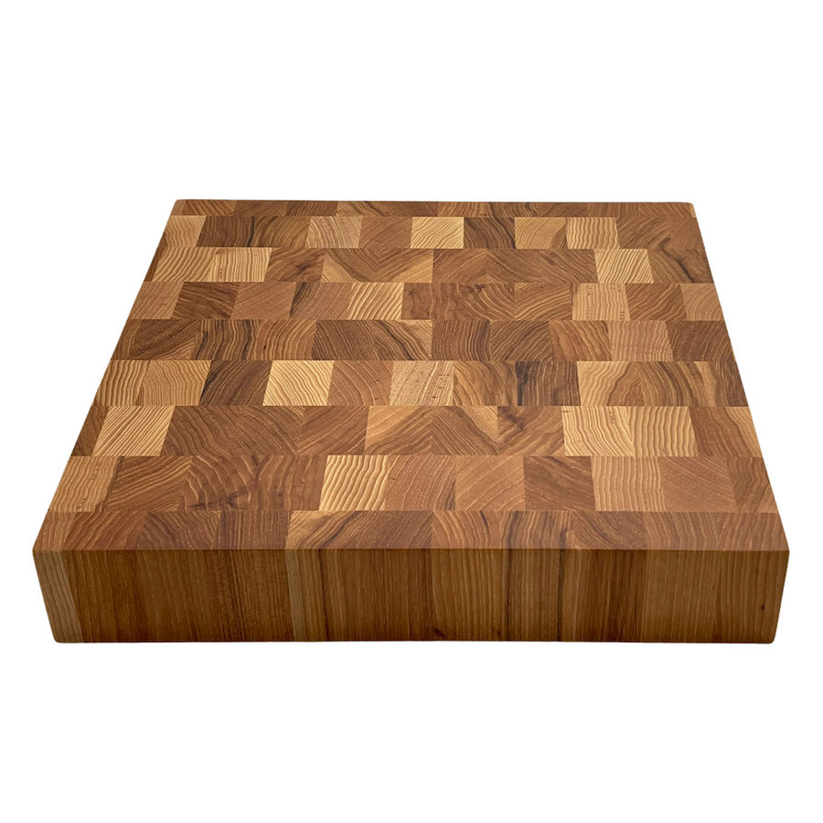 Calico Hickory End Grain Butcher Block Cutting Board