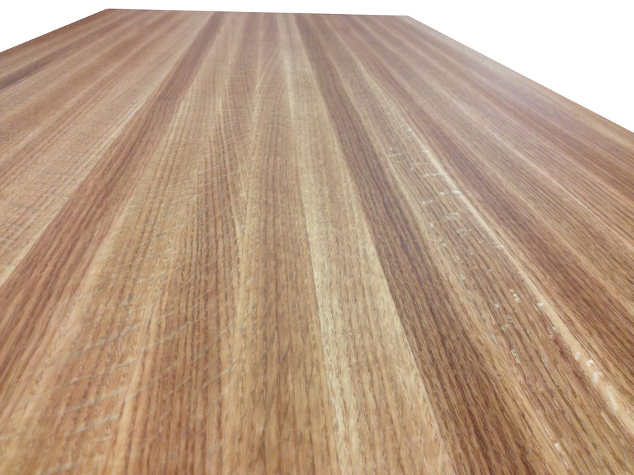 Red Oak Butcher Block Close Up