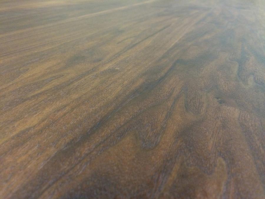 Walnut Plank Tabletop Close-up