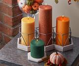 Autumn Pillar and Dinner Candles