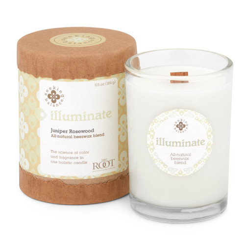 Seeking Balance® 6.5 oz Original Spa Candle Juniper Rosewood Illuminate