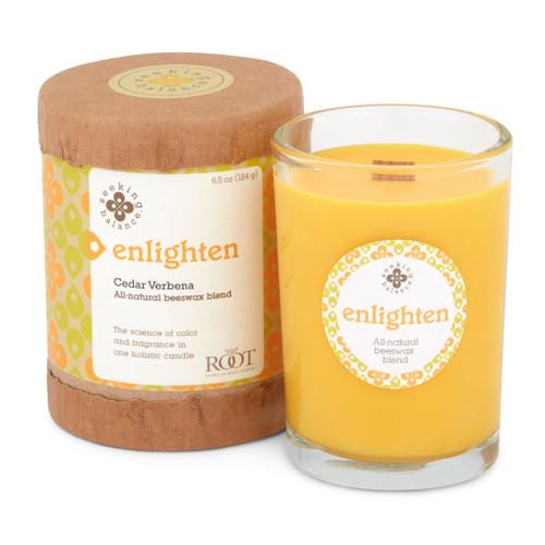 Seeking Balance® 6.5 oz Original Spa Candle Cedar Verbena Enlighten