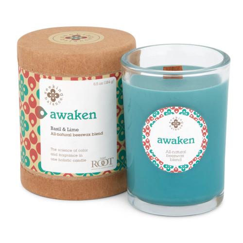 Seeking Balance® 6.5 oz Original Spa Candle Basil & Lime Awaken